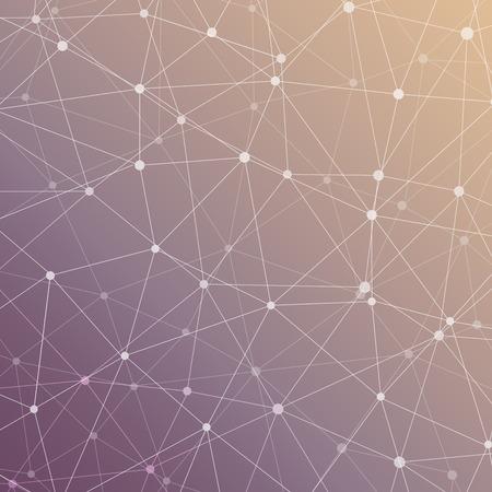 molécule de structure et de la communication Dna, atome, les neurones. concept de la science pour votre conception. lignes connectées avec des points. Médicale, de la technologie, la chimie, la science fond.