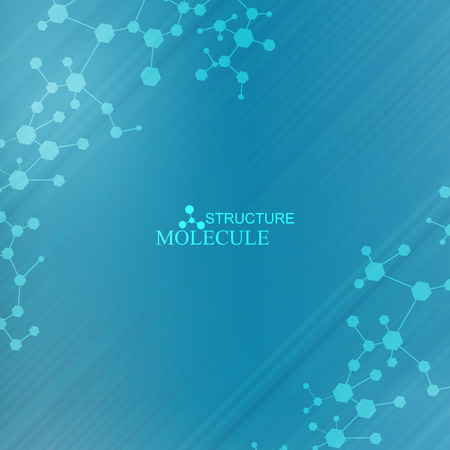 disease structure: Molecule and communication with connected dots and lines. Science concept for your design.Vector illustration.