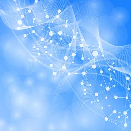 Molekül und Kommunikation mit verbundenen Punkten und Linien. Wissenschaftskonzept für Ihr design.illustration.