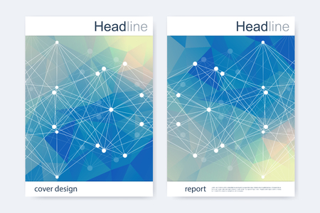 科学的なパンフレットのデザイン テンプレート