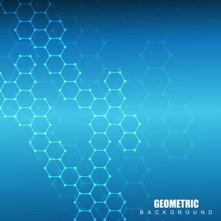 human evolution: Structure molecule and communication. Dna, atom, neurons. Scientific concept for your design. Connected lines with dots. Medical, technology, chemistry, science background. Vector illustration