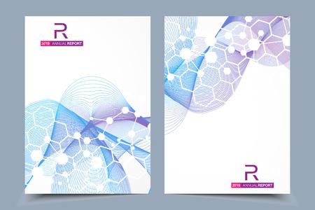 科学パンフレットデザインテンプレート。