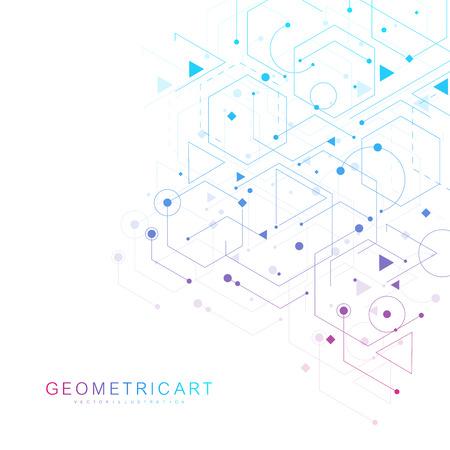 Contexte futuriste moderne du motif hexagonal scientifique.