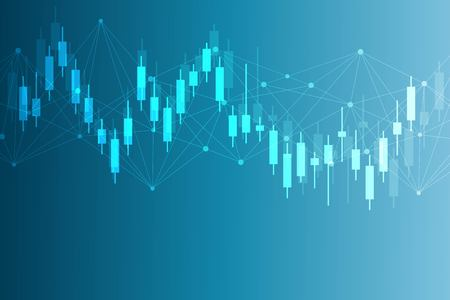 Stock market or forex trading graph. Chart in financial market vector illustration Abstract finance background. Illustration