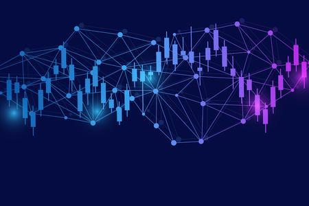 Stock market or forex trading graph. Chart in financial market vector illustration Abstract finance background. Ilustração