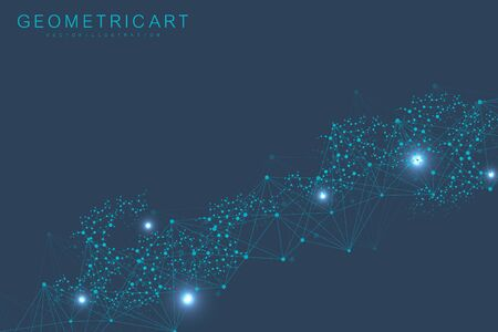 Big Data Visualization Background. Modern futuristic virtual abstract background. Science network pattern, connecting lines and dots. Global network connection