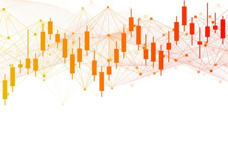 Stock market or forex trading graph. Chart in financial market vector illustration Abstract finance background