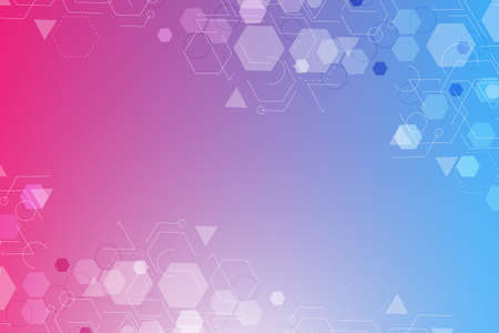 Modern futuristic background of the scientific hexagonal pattern. Virtual abstract background with particle, molecule structure for medical, technology, chemistry, science. Social network vector. 向量圖像