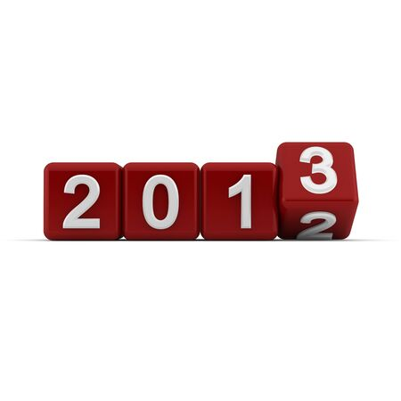 sequential: 3D red blocks with the transition from year 2012 to 2013