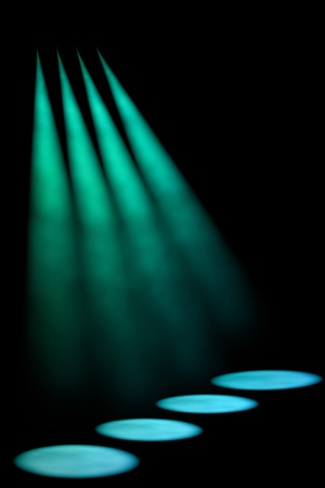 limelight: Abstract dark background with bright stage spotlights Stock Photo