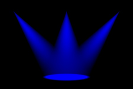 Abstract dark background with bright stage spotlights photo
