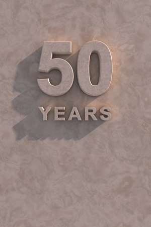 50 years 3d text with shadow and copy space photo