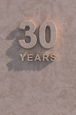 30 years: 30 years 3d text with shadow and copy space Stock Photo
