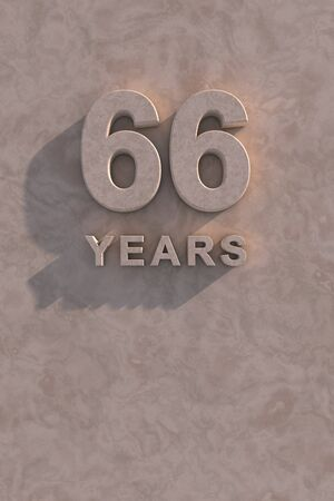 66 years 3d text with shadow and copy space photo