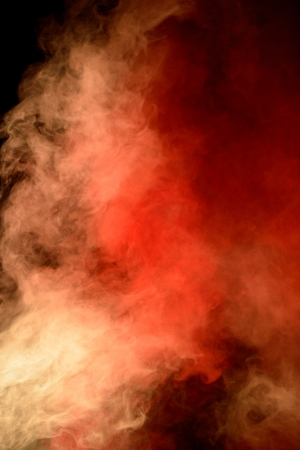 gaseous: Background made of a large and intense red and orange cloud of smoke rising in a column