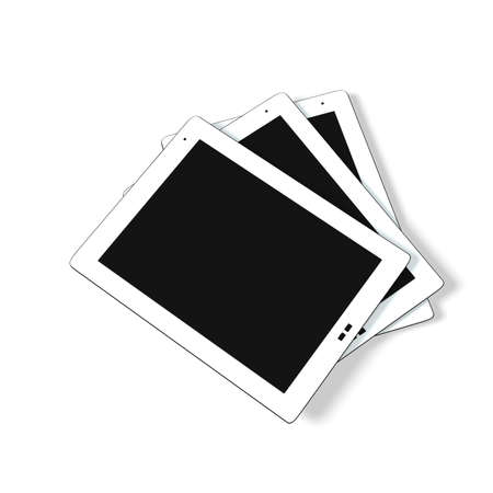 Tablet pc isolated Stock Photo - 9219555