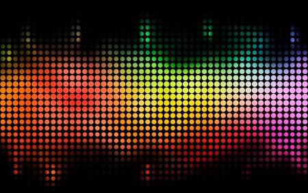 Fun glänzenden Hintergrund Bunte Punkte auf schwarzem