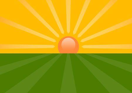Sunset Stock Vector - 17894333