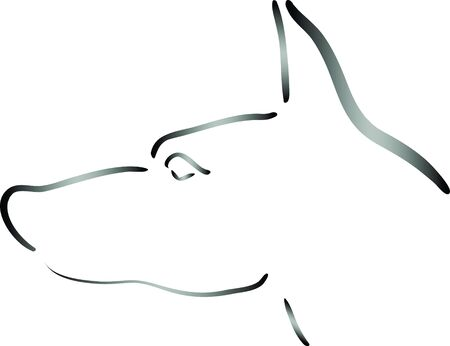 Dog head Stock Vector - 17894371