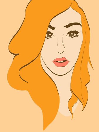 beautiful woman face portrait vector illustration  Stock Vector - 18411003