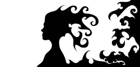 woman face silhouette vector illustration Stock Vector - 18572974