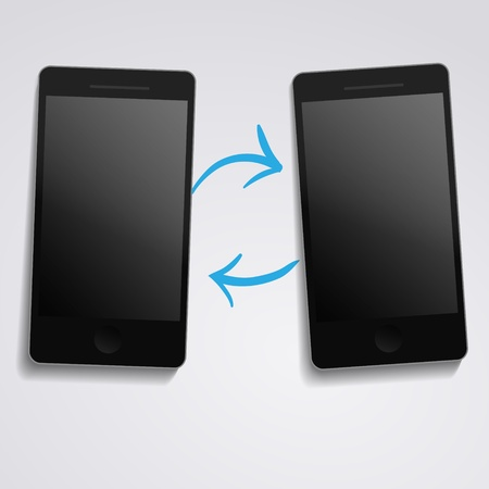 phone synchronization Vector