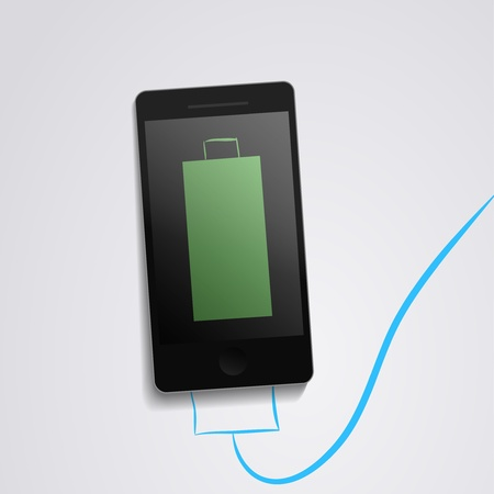 Phone battery charge  Illustration