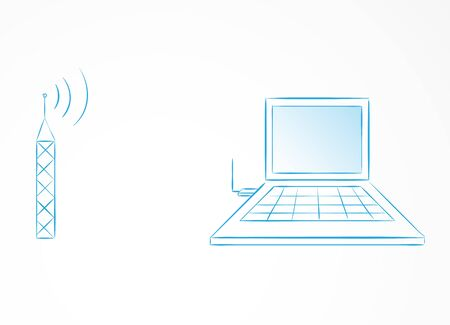 Internet WLAN synchronization with computer