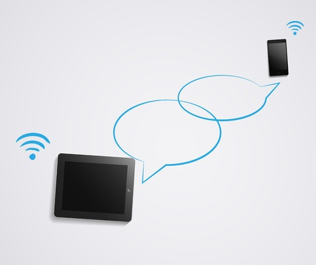 Chat conversation on smartphone and tablet
