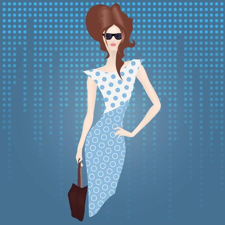 Shopping lady with bag Stock Vector - 18810729