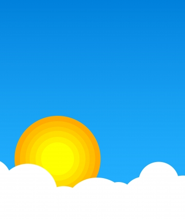 Sun in clouds with blue sky Stock Vector - 18810718
