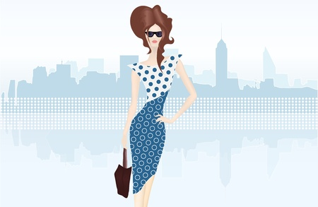 Shopping lady with bag Stock Vector - 21994013