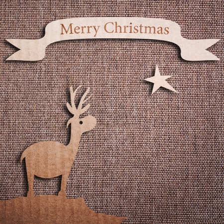 Christmas background with Christmas tree, illustration. Stock Photo