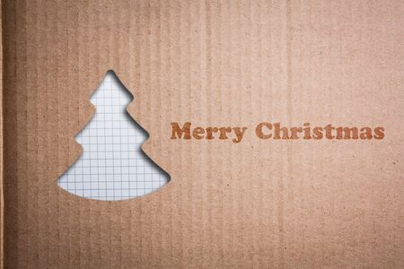 Christmas background with Christmas tree, illustration. Stock Photo