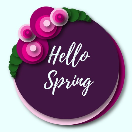 greeting season: Colorful spring season greeting card with flowers