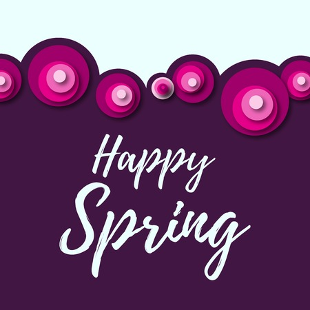 Colorful spring background with flowers