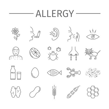 Causes, symptoms for Allergy.