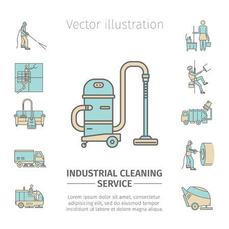 Industriële schoonmaakservice.