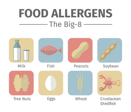 A group of the eight major allergenic foods is often referred to as the Big-8