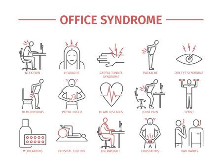 Office-Syndrom infografisch Standard-Bild - 80166915