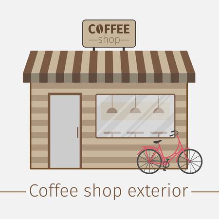 Coffee shop. Flat design. Vector illustration.