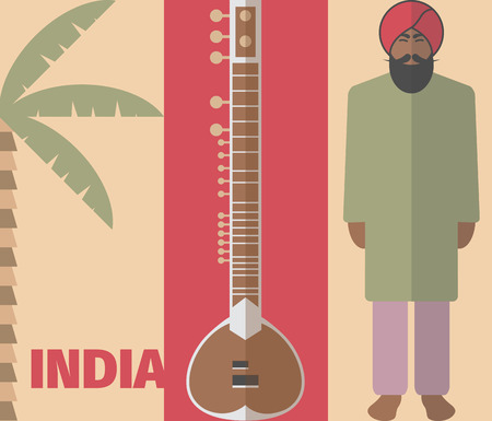 mantra: Vector Indian background. Indian poster Illustration