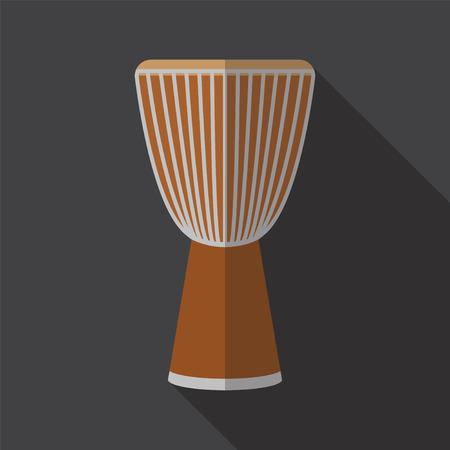 djembe: Djembe drum. Flat icon.