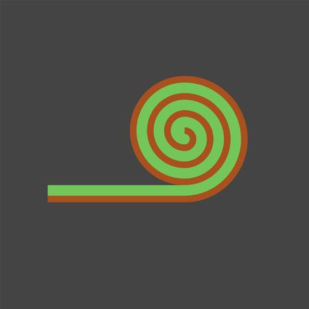 Ícone plano do gramado Ilustración de vector
