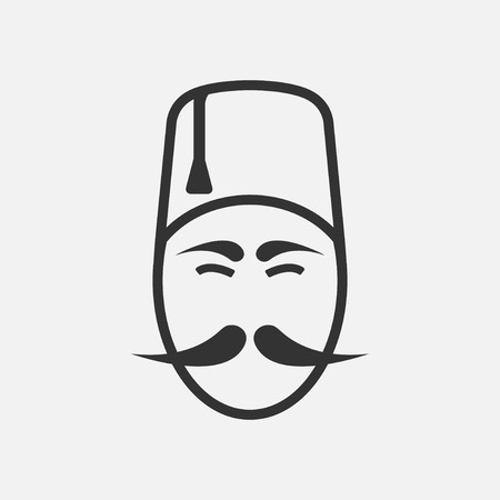 Traditional turkish man icon