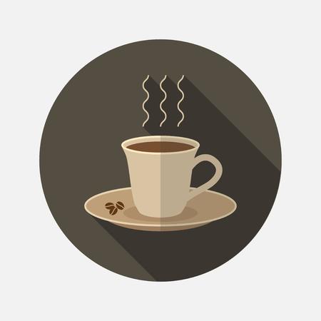 A cup of coffee. Flat illustration Фото со стока - 82822494