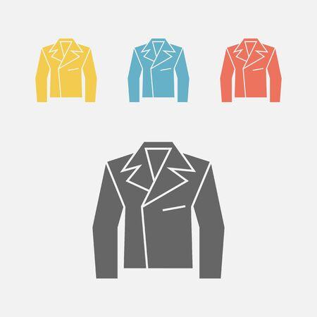 Leather Jacket, rock style, vector icon. Illustration