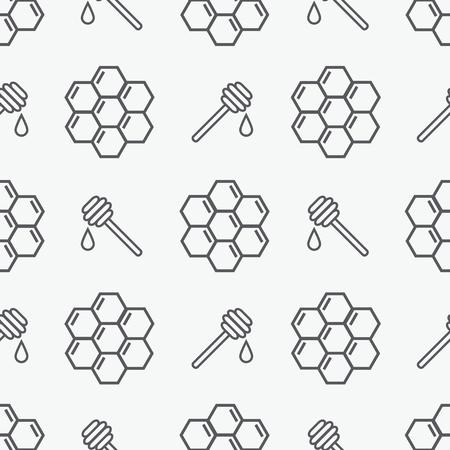 Honey seamless pattern Illustration