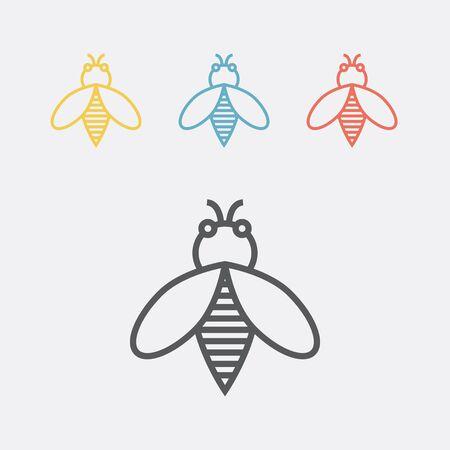 Bee line icon.