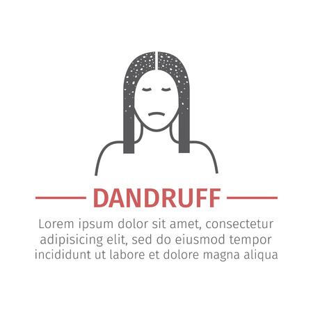 Dandruff. Vector icon Illustration